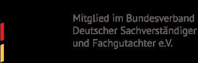 Logo Bundesverband Deutscher Sachverständiger und Fachgutachter BDSF